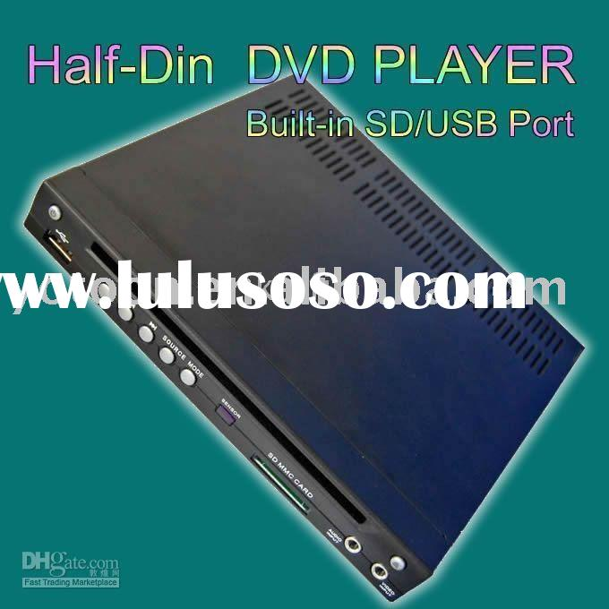 Newest CAR 1/2 DIN /Half DIN DVD Player USB In-Dash DIVX/MP3/CD/SD Slot Made In China
