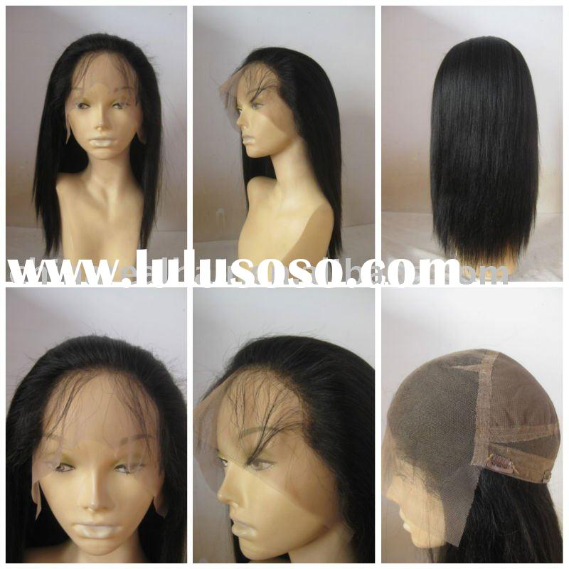 best quality 100% human hair full lace wigs with clips back