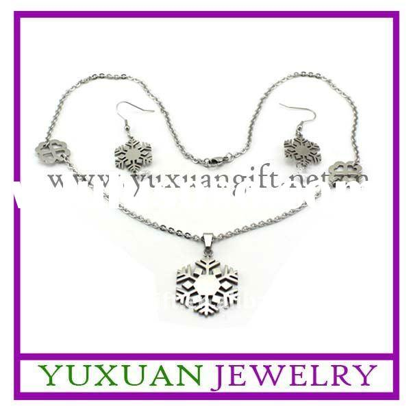 sales promotion fashion cheap jewelry sets of snowflake