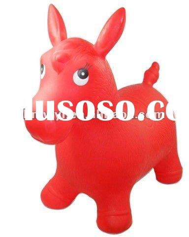 2012 pvc walking animal ride for kids/jumping animal toys