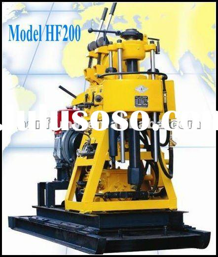 Water well drilling rigs for sale!!!Rock drilling,Hydraulic HF200 borehole drilling rig