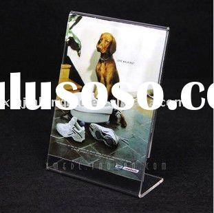 elegant clear acrylic price tag stand or price holder