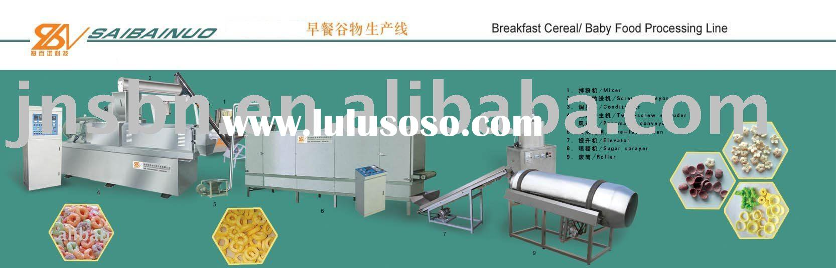 breakfast cereal processing line/baby food processing line,corn flakes processing line