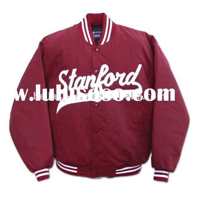 2012 Customized Fashion Kids 100% Polyester quilted Baseball Jacket Baseball Top