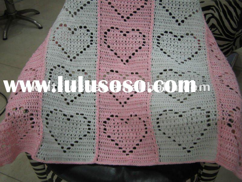 Fancy Hand made Knit Crochet Baby Blanket (KCC-HB004)