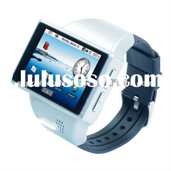 GPS watch phone 2012 latest android 2.2 OS watch mobile phone with GPS WIFI 2.0 Flytouch capacitive