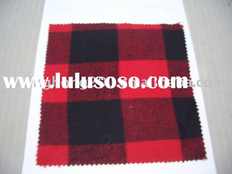 New 100% Yarn Dyed Check Cotton Flannel Fabric for Garment