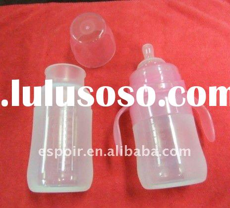 Silicone Baby Feeding Bottle - With Handle