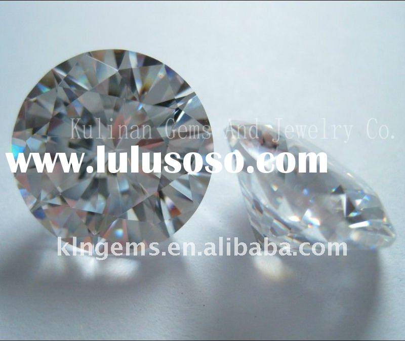 3mm Round Shape Zirconia, Wholesale Machine Cut CZ Gemstone