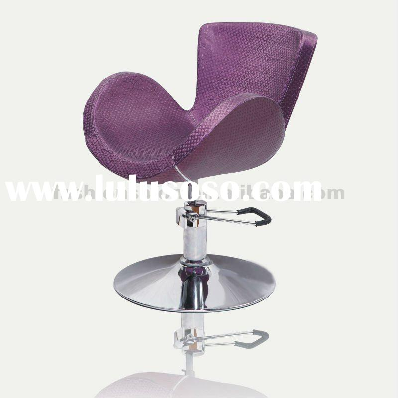 Purple hydraulic salon chair furniture/beauty chair salon furniture