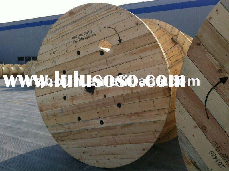 Pine wood and iron structure cable drum reel for sale