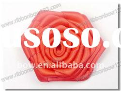 red rose satin ribbon flowers artificial