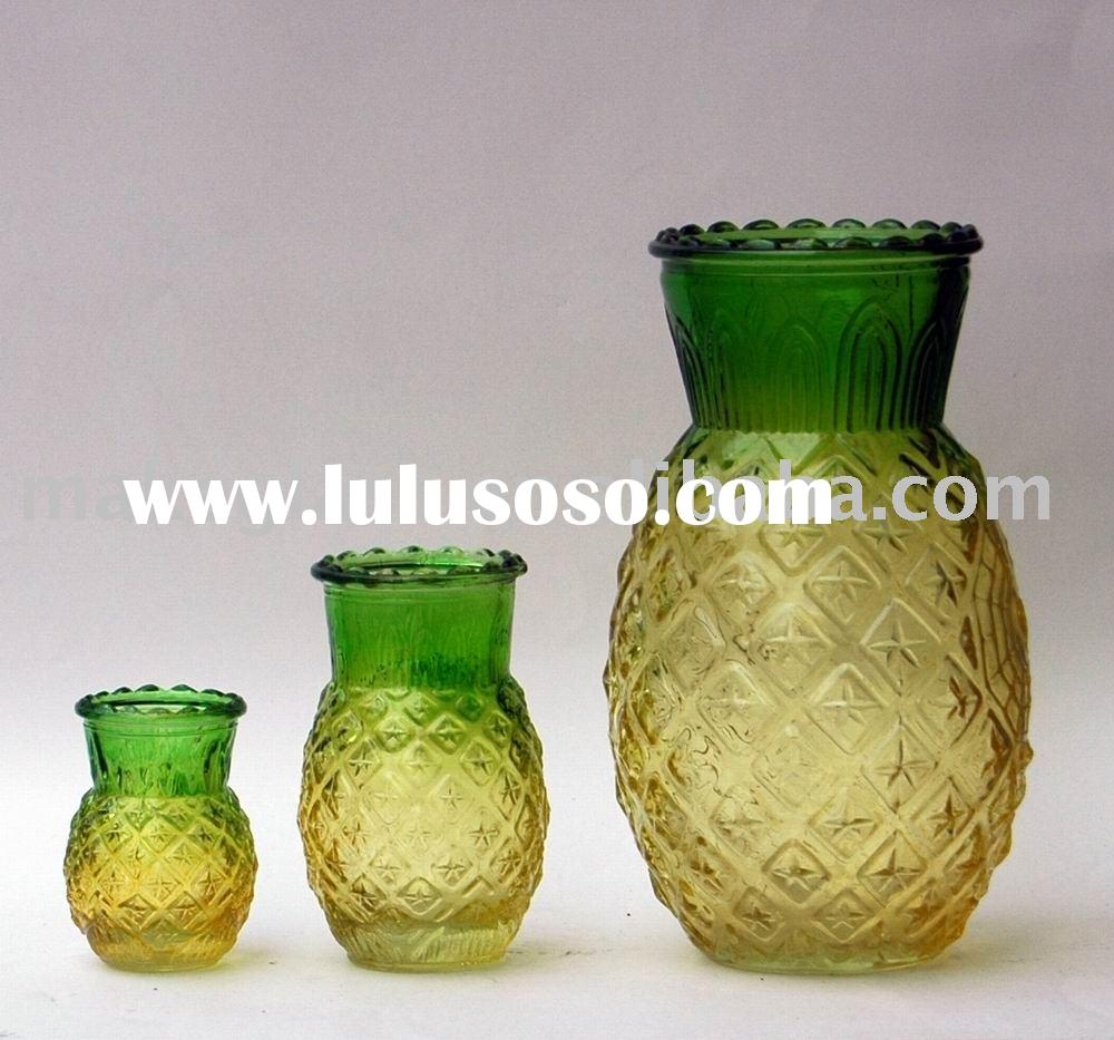 pineapple candle holder/glass candle holder