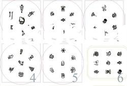 christmas template,nail art stamping ,image plates ,template ,