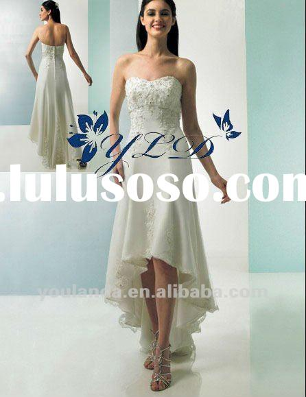 Tulle Strapless Soft Neckline With A-line Skirt Fashion Tea Length Wedding Dress