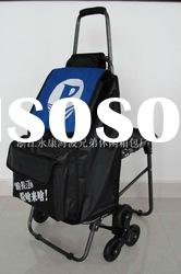 heavy duty foldable shopping trolley with seat/stair climbing shopping trolley