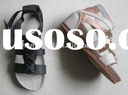 Ladies' Fashion Cork-Sole Sandals, Roman Style Sandals, Comfortable Women Sandals