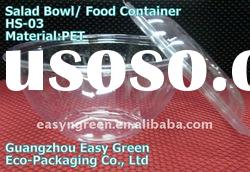 2011 Newest Disposable Plastic Salad Bowl With Lid HS-03