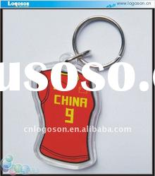 2011 red personalized acrylic picture keychain