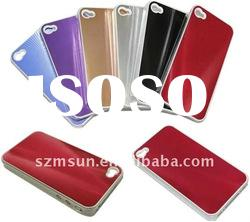PC + Aluminum Case for iphone 4 Back Hard Case