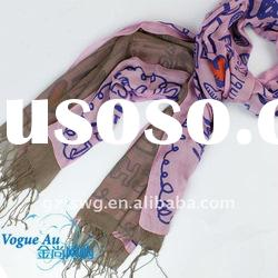 2011 newest arrival fashion cotton scarf /real silk scarf/ brand name scarf