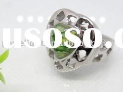 Wholesale stainless steel jewelry Murano Glass Rings
