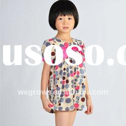 Hot-sale,Formal Dot Short Dress With Bow,child clothing,European Material