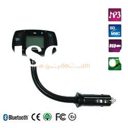 New 1.5 LCD display bluetooth hands free car kit for GALAXY S II with RDS and CVC technology