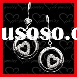 2012 fashion 925 sterling silver ladies big beautiful drop earrings