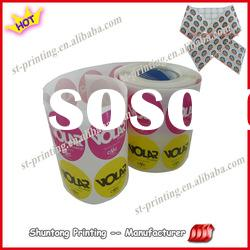2012 hot custom printed rolling wrapping paper, brand name product logo stickers