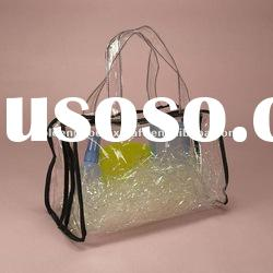 Fashionable Transparent/Clear PVC Tote Bag For Promotion