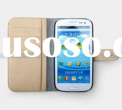 Wallet card holder Leather case for Samsung S3 i9300