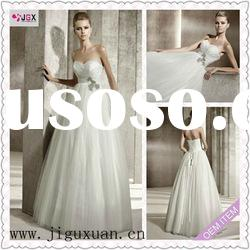 1964-1hs Simple White Tulle Sweetheart Empire and Ball Gown Design wedding and quinceanera dresses