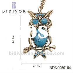 fashion owl jewelry turquoise necklace