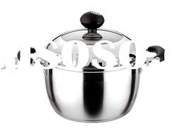 High quality stainless steel cooking pot with elegant design and low price