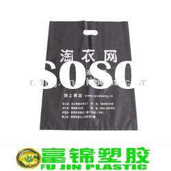 black ldpe pe plastic shopping bag with printing