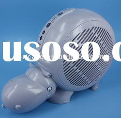 Happy Hippo-Shaped Air Purifier Ionizer with UVA+Phtocatalyst filter & Activated Carbon Filter