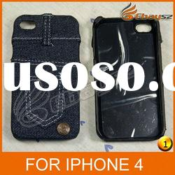v-Free Shipping New Fashion Jeans Protective Cover Case For iPhone 4 LF-0474