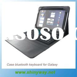 leather case bluetooth keyboard for Galaxy