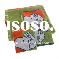100 cotton velour printed face towel