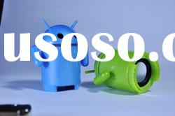 Portable Andriod Robot mini speaker for pc,laptops,tablet pc and mobile phone,support 32G TF Card