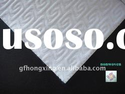 white S design 100% polyester nonwoven fabric for cleaning
