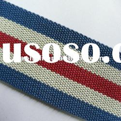 2 inch striped polyester webbing strap for bags,cotton webbing strap