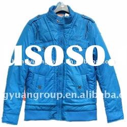 Men's Blue Casual Cotton-padded Jackets