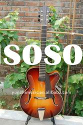 Wholesale Fully handmade jazz guitar with solid wood,beautiful handmade jazz guitar. hot sale