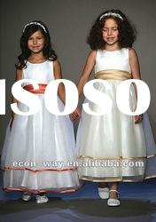 2012 Fashion Organza A-line Ankle Length Flower Girl Dress