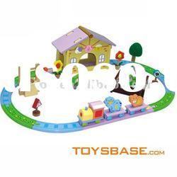 Wooden Puzzle Vehicle Set Toy