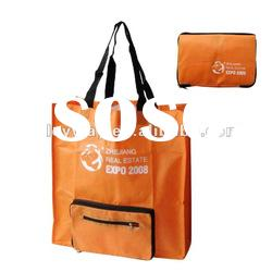 foldable Bag Handle bag, Lady shopping bag, promotional bag, ECO bag