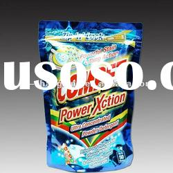 Zip and lock plastic bag for laundry detergent soap powder packaging