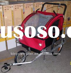 Dual function baby bike trailer jogger